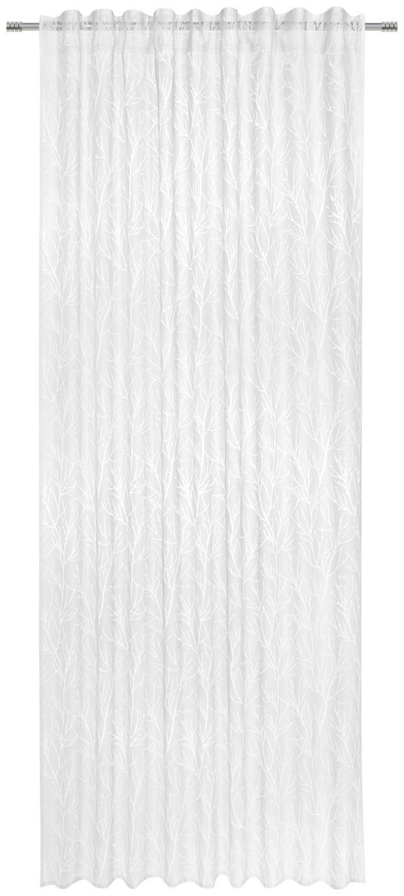 Končana Zavesa Tristan - bela, Konvencionalno, tekstil (140/245cm) - Premium Living