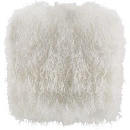 Fellkissen Shaggy 40x40cm - Weiß, LIFESTYLE, Textil (40/40cm) - Mömax modern living