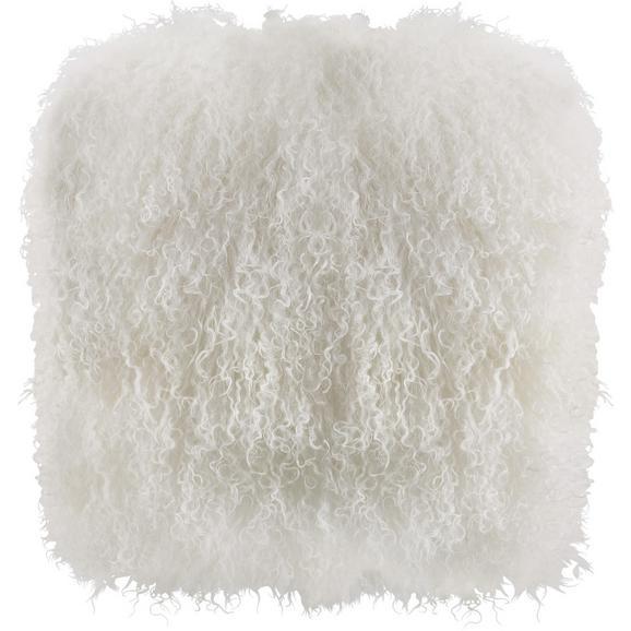 Kissen Shaggy ca.40x40cm in Weiß - Weiß, LIFESTYLE, Textil (40/40cm) - Bessagi Home