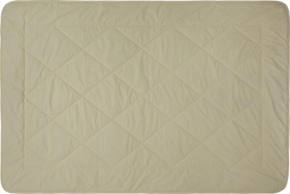 Steppdecke Schaffwoll, ca. 135x200cm - Beige, Textil (135/200cm) - Nadana