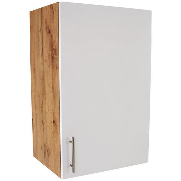 Kuhinjska Zgornja Omarica Stella H60-89 - bela/hrast, kovina/leseni material (60/89/37cm)