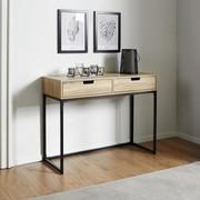 Konsole Lotte Ca.100x38cm   Eichefarben/Schwarz, MODERN, Holz/Metall (