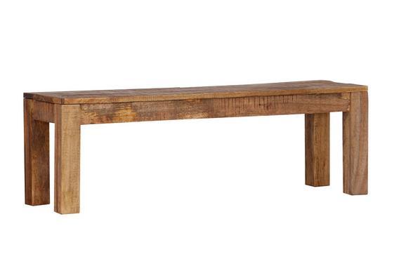 Sitzbank Braun Mangoholz - Naturfarben, LIFESTYLE, Holz (140/40/45cm) - Zandiara