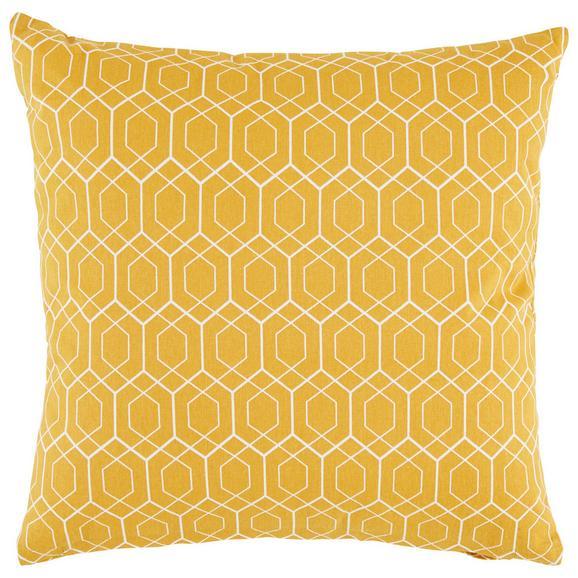 Zierkissen Honeycomb Gelb ca. 45x45cm - Gelb, MODERN, Textil (45/45cm) - Mömax modern living