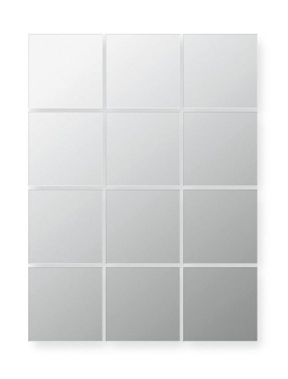 Tükörcsempe Szett Erich - ezüst színű, konvencionális, üveg (15/15cm)