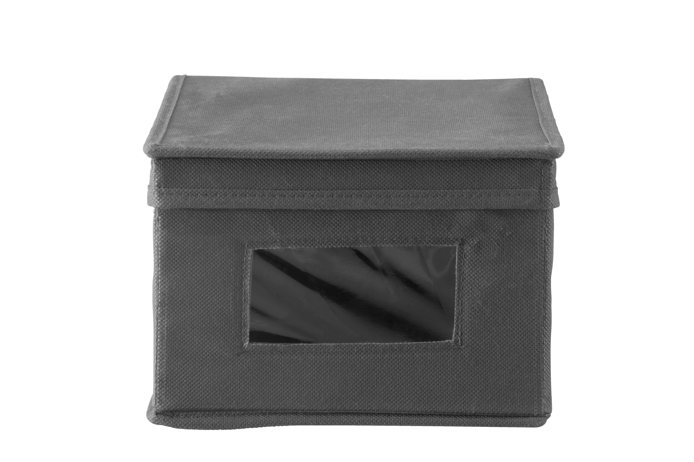 Aufbewahrungsbox in Anthrazit - Anthrazit, MODERN, Karton/Textil (20/13/34cm) - MÖMAX modern living