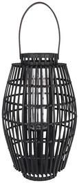 Laterna Kiara - črna/temno rjava, Trendi, steklo/les (30/50cm) - Mömax modern living