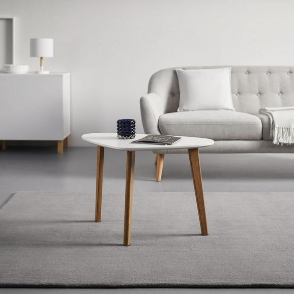 Couchtisch in Buchenfarben/ Weiß ca.70x40cm 'Kimi' - Buchefarben/Weiß, MODERN, Holz/Metall (40/70/46,5cm) - Bessagi Home