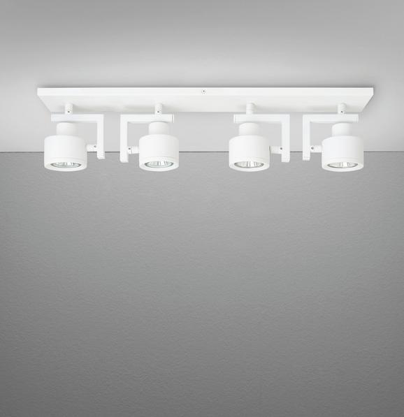 Deckenleuchte Sam - Weiß, MODERN, Metall (57/8/13cm) - Mömax modern living