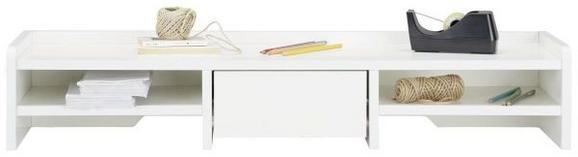 Schreibtischaufsatz in Weiß - Weiß, Holzwerkstoff (96,4/17,4/25,5cm) - MODERN LIVING