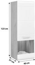 Viseča Vitrina Avensis - aluminij/bela, Moderno, umetna masa/steklo (40,3/123,4/37,1cm) - Mömax modern living