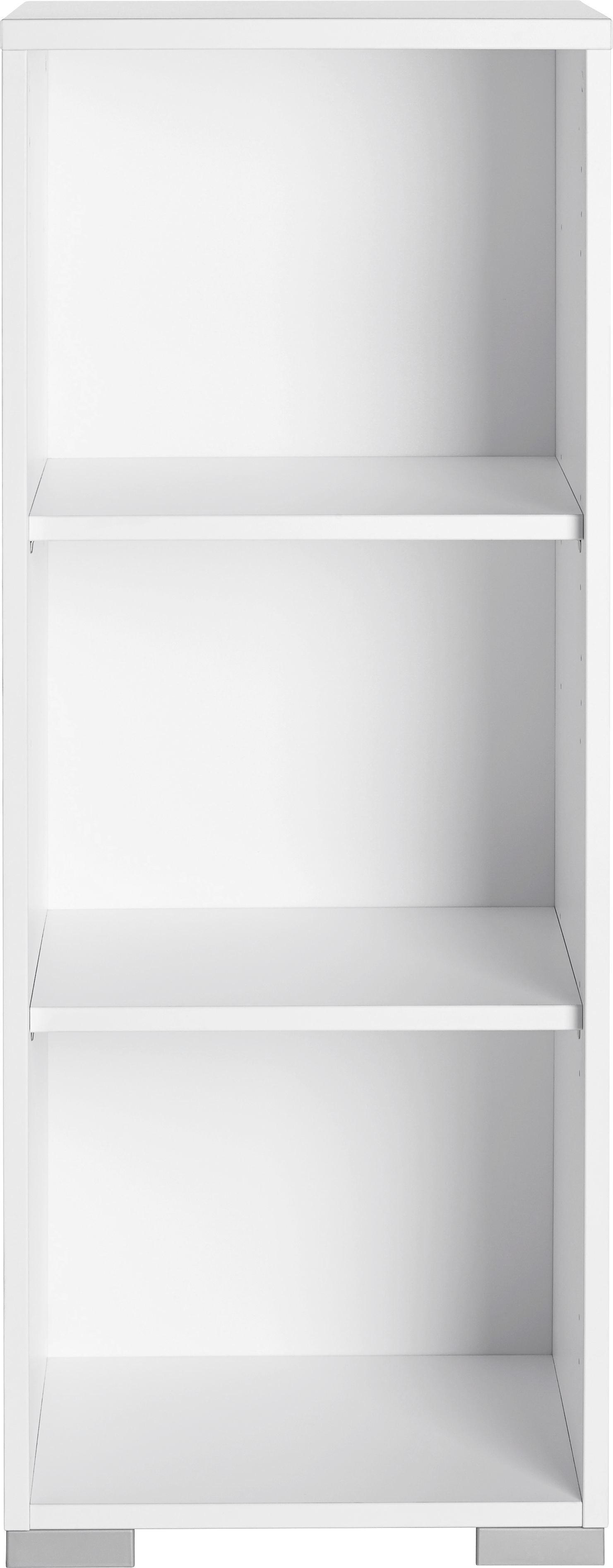 Aktenregal in Weiß - Silberfarben/Weiß, MODERN, Holzwerkstoff/Kunststoff (42,1/109,7/40cm) - MÖMAX modern living