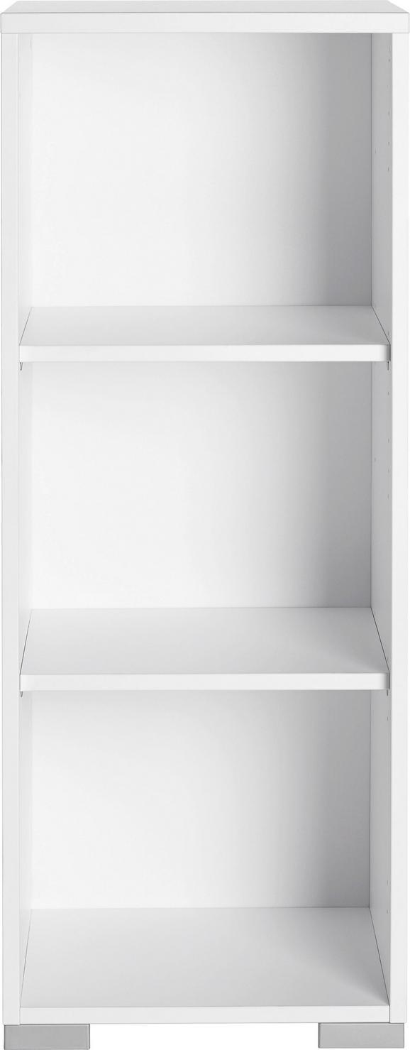 Aktenregal Weiß - Silberfarben/Weiß, MODERN, Holzwerkstoff/Kunststoff (42,1/109,7/40cm) - Mömax modern living