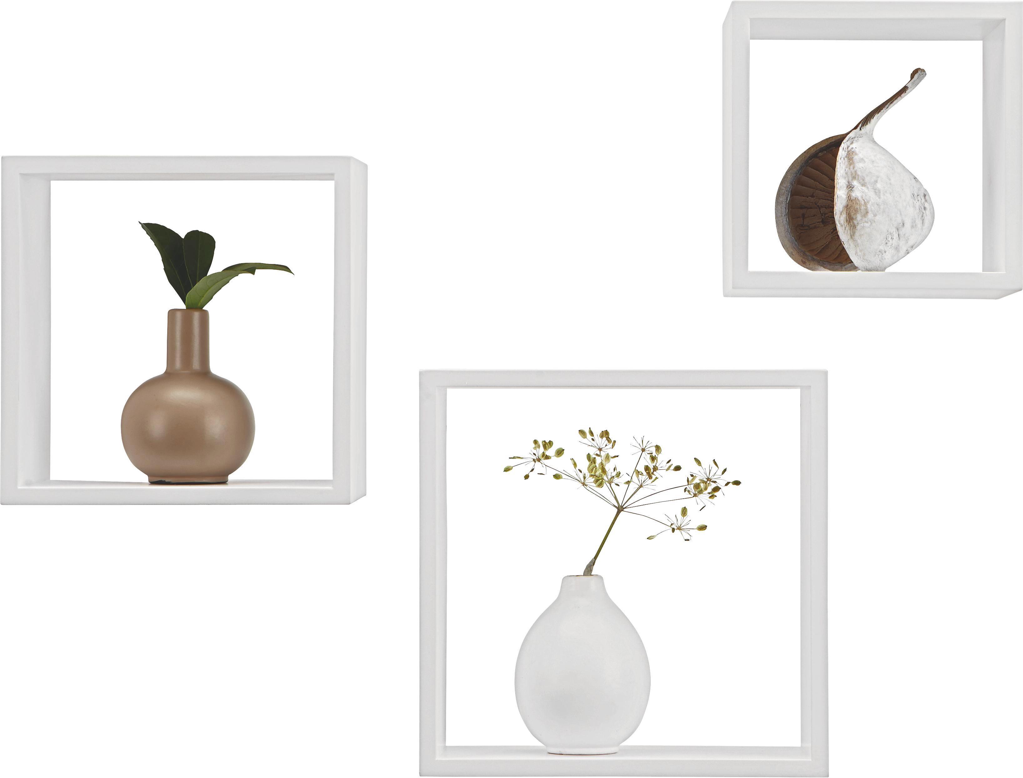 Falipolc  3-részes Szett Triple Cubes    -sb- - fehér, műanyag/fém (28/24/20/28/24/20/12cm) - MÖMAX modern living