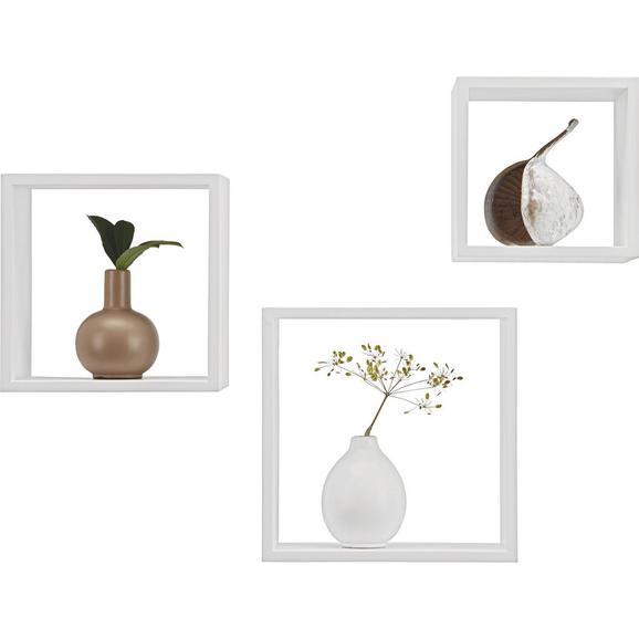 Stenski Regal Triple Cubes - bela, kovina/umetna masa (28/24/20/28/24/20/12cm) - Mömax modern living