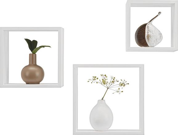 Wandregalset in Weiß - Weiß, Holzwerkstoff/Kunststoff (28/24/20/28/24/20/12cm) - Mömax modern living