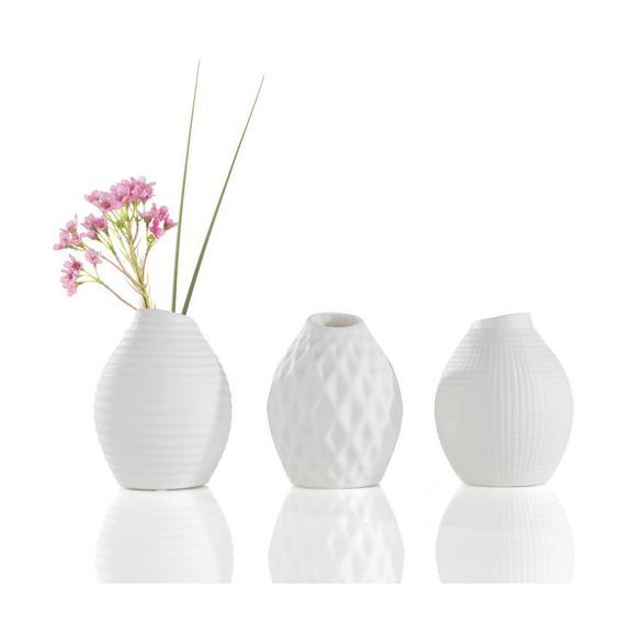Vaza Nova I - bela, Moderno, keramika (10/14cm) - Mömax modern living