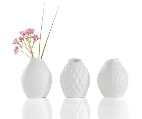 Vaza Vase Nova I - bela, Moderno, keramika (10/14cm) - Mömax modern living