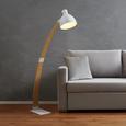 Stehleuchte Nerea - Naturfarben/Weiß, MODERN, Holz/Metall (87/22/150cm) - Modern Living