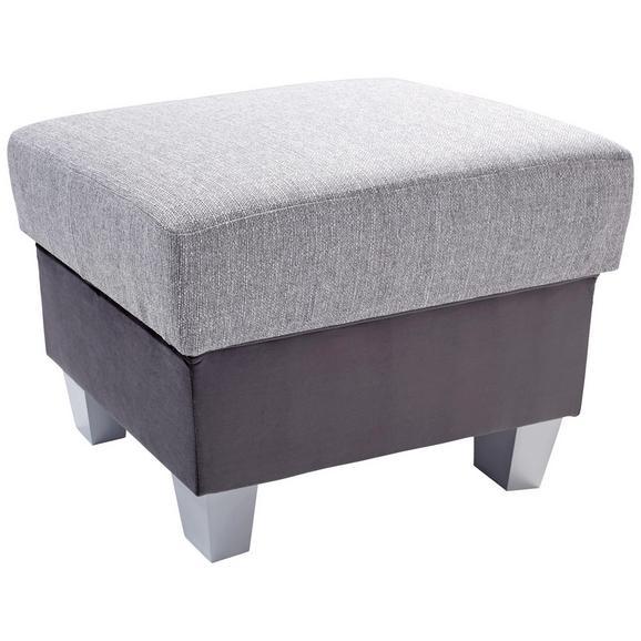 Tabure Portland - tamno siva/boje srebra, Konventionell, drvni materijal/drvo (68/43/47cm) - Based