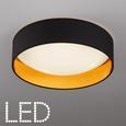 Deckenleuchte Jette mit Led - Goldfarben/Schwarz, MODERN, Kunststoff/Textil (40/10cm) - Modern Living