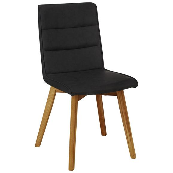 Stuhl in Braun - Schwarz, MODERN, Holz/Textil (44/87/55,5cm) - Based