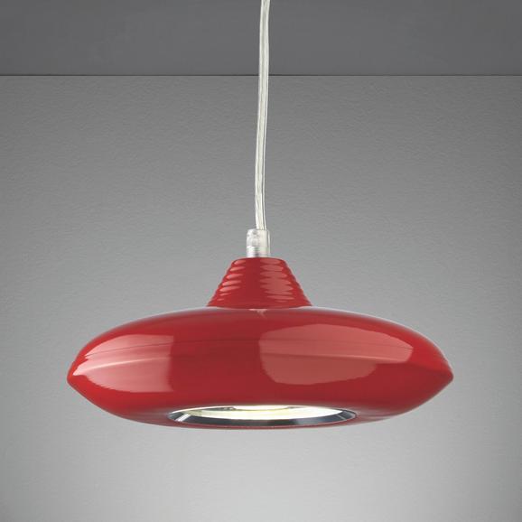 LED-Hängeleuchte Leah - Rot, MODERN, Glas/Kunststoff (21/21/180cm) - MÖMAX modern living