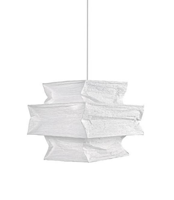 Leuchtenschirm Juliette in Weiß aus Papier - Weiß, Papier (38/34/38cm) - Mömax modern living