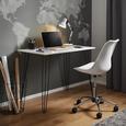 Schreibtisch Marc ca.98x60cm - Schwarz/Weiß, MODERN, Holz/Metall (98/60/75cm) - Modern Living