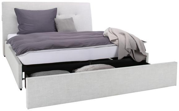 Polsterbett Hellgrau 180x200cm - Hellgrau, KONVENTIONELL, Holzwerkstoff/Kunststoff (180/200cm) - Premium Living