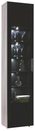 Vitrine In Lärche/grau - Chromfarben/Silberfarben, MODERN, Holzwerkstoff/Kunststoff (45/199/35cm) - premium living