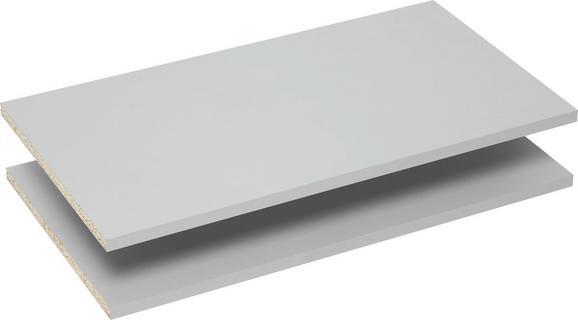 Einlegebodenset in Grau 2er Set - Grau, Holzwerkstoff/Metall (57,7/32/1,5cm) - Mömax modern living