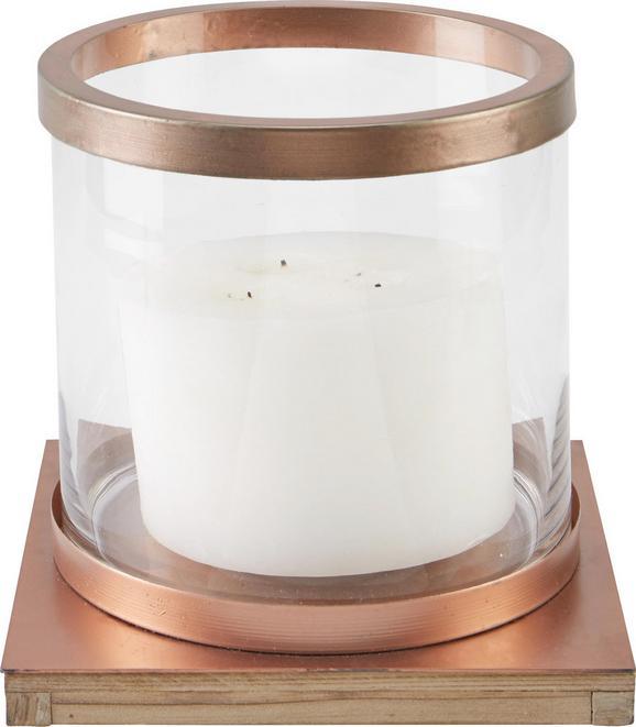 Windlicht Cherise Ø/h ca. 23/22,3 cm - Sandfarben/Klar, MODERN, Glas/Holz (23/22,3cm) - Mömax modern living