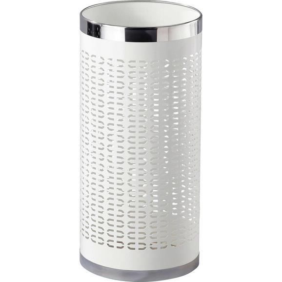 Suport Pentru Umbrele Girotti - alb/culoare inox, Modern, metal (23/50cm)
