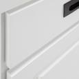Buffet Liana - Weiß/Grau, MODERN, Glas/Holz (92/203/40cm) - MÖMAX modern living
