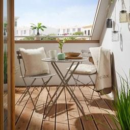 Set Za Balkon Nice - siva/srebrna, kovina - Mömax modern living