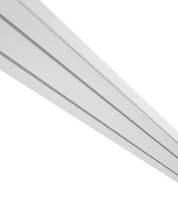 Vorhangschiene Amelia Weiß, ca. 250cm - Weiß, Kunststoff (250cm) - Mömax modern living