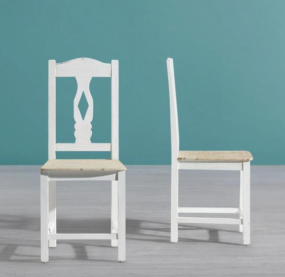 Stuhl Ginevra - Weiß, MODERN, Holz (40,5/94/43,5cm) - Mömax modern living