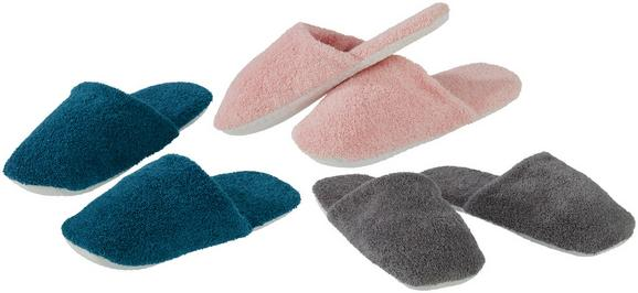 Gästepantoffel Mario Verschiedenen Farben - Petrol/Rosa, Textil - Based