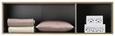 Aufsatzschrank Weiß/Eiche - Eichefarben/Alufarben, MODERN, Holzwerkstoff/Kunststoff (136/39/54cm) - Modern Living