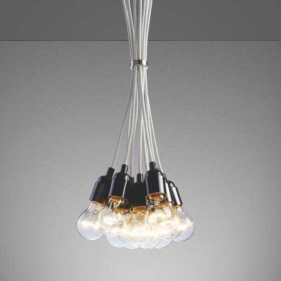 Hängeleuchte Padua - Weiß, MODERN, Kunststoff (22/22/147cm) - Mömax modern living
