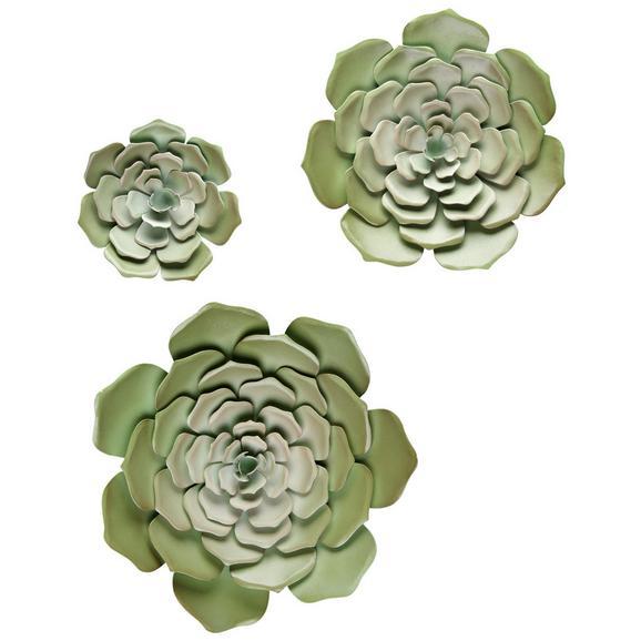 Stenska Dekoracija Lena - zelena, kovina (23,5/2,5cm) - Mömax modern living