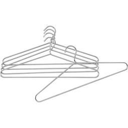 Kleiderbügelset in Chromfarben 5er Set - Chromfarben, Basics, Metall (42/18cm) - Mömax modern living