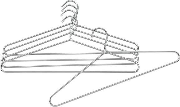 Metall-Kleiderbügel Chromfarben aus Metall - Chromfarben, Basics, Metall (42/18cm) - Mömax modern living