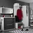 Mehrzweckschrank Weiß Hochglanz - Weiß/Grau, MODERN, Holzwerkstoff/Kunststoff (70/210,6/34cm) - Mömax modern living