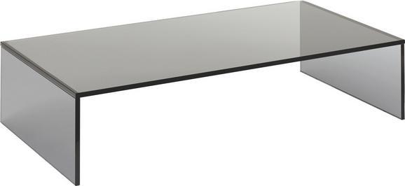 Tv-rátét Universal 60cm - Sötétszürke, Üveg (60/14/30cm)