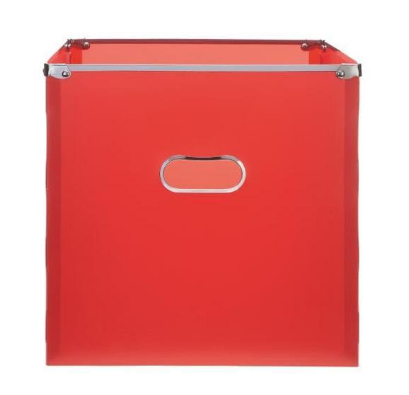 Škatla Za Shranjevanje Poppi - rdeča/nerjaveče jeklo, Moderno, kovina/umetna masa (34,5/33/34cm) - Mömax modern living