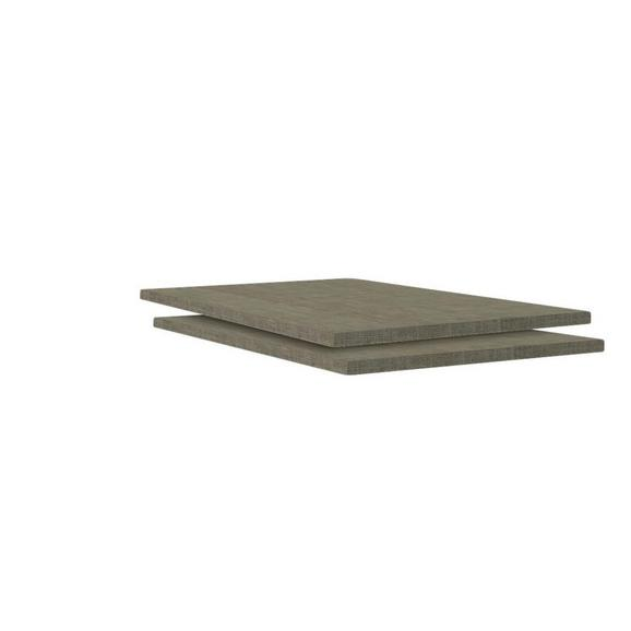 Einlegebodenset in Braun - Braun, MODERN, Holzwerkstoff (44,5/1,8/54,4cm) - Based