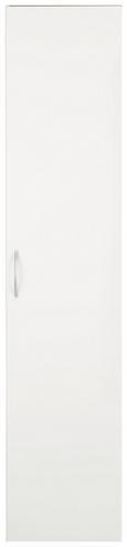 Mehrzweckschrank Weiß - Alufarben/Weiß, Holzwerkstoff/Kunststoff (40/185/40cm)