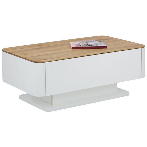 Couchtisch in Weiß/Eichefarben - Eichefarben/Weiß, KONVENTIONELL, Holz/Holzwerkstoff (110/43/65cm) - Modern Living